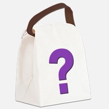 Question mark, purple, t shirts, mugs,gifts Canvas