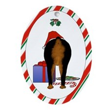 Rottweiler Christmas Oval Ornament