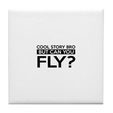 Fly job gifts Tile Coaster