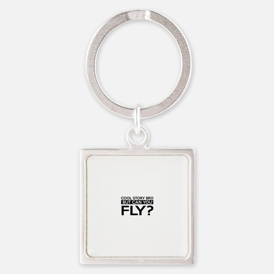 Fly job gifts Square Keychain