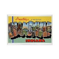 Evansville Indiana Greetings Rectangle Magnet