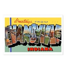 Evansville Indiana Greetings Postcards (Package of