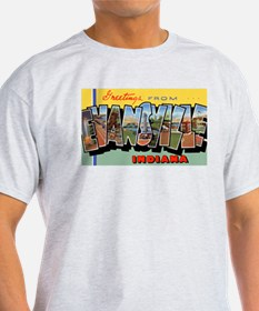 Evansville Indiana Greetings (Front) Ash Grey T-Sh