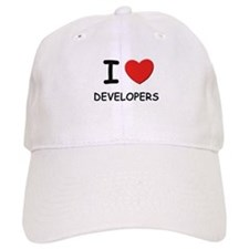 I love developers Baseball Cap