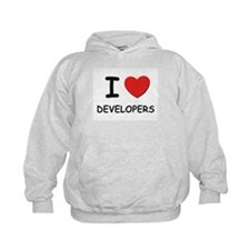 I love developers Hoodie