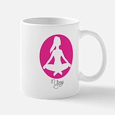 yoga 22 pink white Mug
