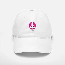 yoga 22 pink white Baseball Baseball Baseball Cap