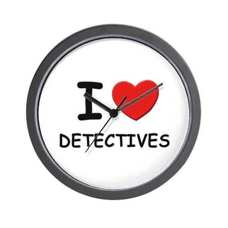 I love detectives Wall Clock