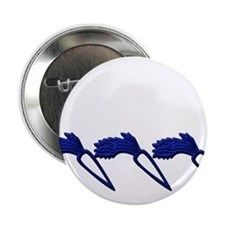 "Blue Carrot Ornament 2.25"" Button (10 pack)"