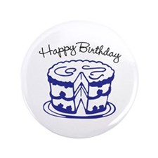 "Happy Birthday 3.5"" Button"