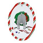 Schnauzer Christmas Oval Ornament