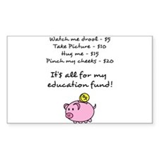 Price List for Education Fund with Piggy Bank Stic