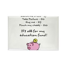 Price List for Education Fund with Piggy Bank Rect