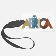 Africa Text Colors Luggage Tag