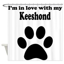 Im In Love With My Keeshond Shower Curtain