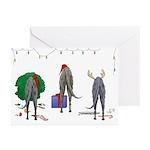 Deerhound Christmas Greeting Cards (Pk of 10)