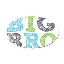 Sketch Style Big Bro Oval Car Magnet