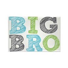 Sketch Style Big Bro Rectangle Magnet