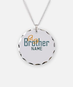 Personalized Add Name Big Brother Print Necklace