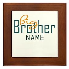 Personalized Add Name Big Brother Print Framed Til