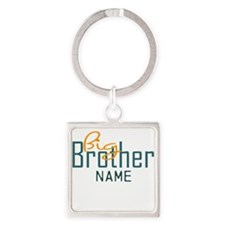 Personalized Add Name Big Brother Print Square Key