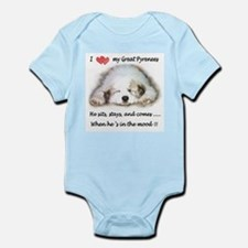 Great Pyrenees Infant Bodysuit, Puppy Mood