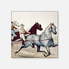 "Harness Racing Square Sticker 3"" x 3"""