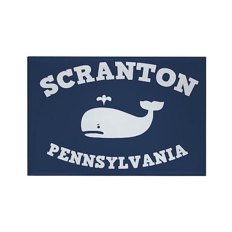 Scranton Whale Excursions Rectangle Magnet
