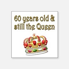 "MAJESTIC 60 YR OLD Square Sticker 3"" x 3"""