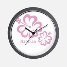 Customized (add your name) Hibiscus Print Wall Clo