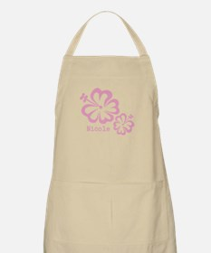 Customized (add your name) Hibiscus Print Apron