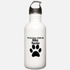 Im In Love With My Silky Terrier Water Bottle