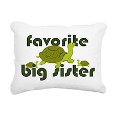Favorite Big Sister Rectangular Canvas Pillow