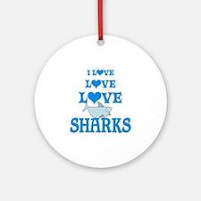 Love Love Sharks Ornament (Round)