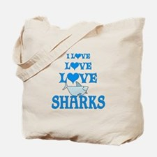 Love Love Sharks Tote Bag