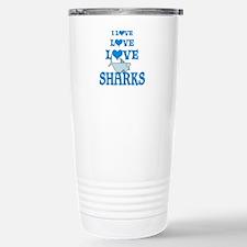 Love Love Sharks Stainless Steel Travel Mug