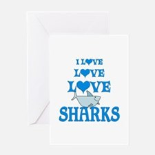 Love Love Sharks Greeting Card