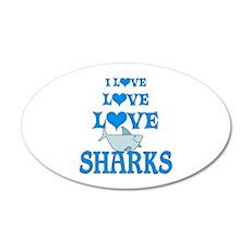 Love Love Sharks Wall Decal