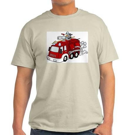 Fire Truck Ash Grey T-Shirt