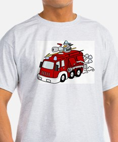 Fire Truck Ash Grey T-Shirt
