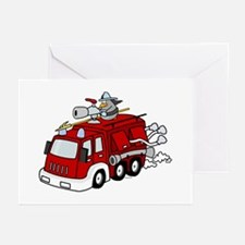 Fire Truck Greeting Cards (Pk of 10)