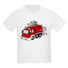 Fire Truck Kids T-Shirt