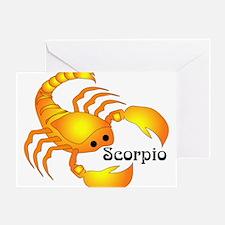 Whimsical Scorpio Greeting Card
