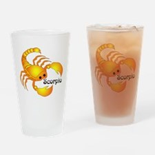 Whimsical Scorpio Drinking Glass