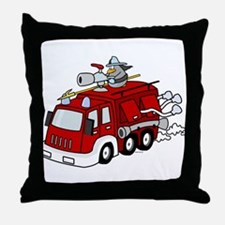 Fire Truck Throw Pillow