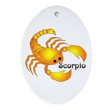 Whimsical Scorpio Ornament (Oval)