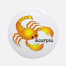 Whimsical Scorpio Ornament (Round)