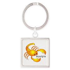 Whimsical Scorpio Square Keychain