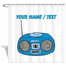 Custom Blue Radio Shower Curtain