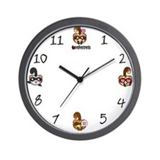 Kawaii Ferrets Wall Clock
